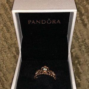 Pandora Jewelry - My Princess Rose Gold Pandora Ring